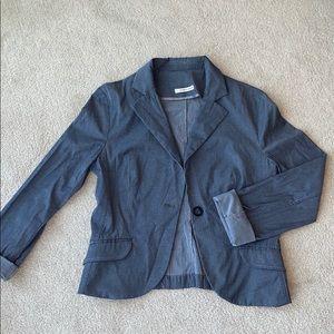 European Grey Blazer Suit Jacket